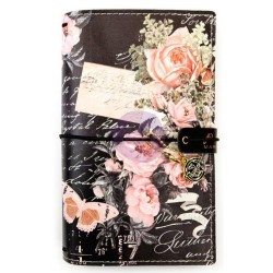 "Vintage Floral Prima Traveler's Journal Personal Size 5""x7,5"" Prima Marketing"