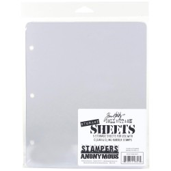 Storage Sheets 5 Pkg Tim Holtz