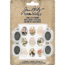 Metal Jeweled Charms Idea-ology by Tim Holtz