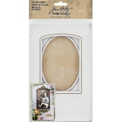 Baseboard Collage Frames Idea-ology by Tim Holtz