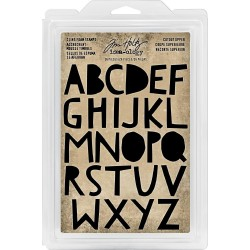 "Cutout Uppercase alphabet 1,25"" Cling Foam Stamps Idea-ology Tim Holtz"