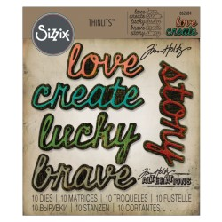 Shadow Script 1 Thinlits Dies by Tim Holtz Sizzix