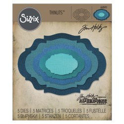 Stacked Baroque Thinlits Dies by Tim Holtz Sizzix
