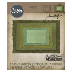 Stacked Deckle Thinlits Dies by Tim Holtz Sizzix