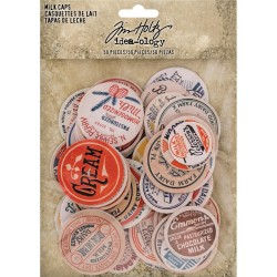 Chipboard Milk Caps 50 Pkg Idea-Ology by Tim Holtz