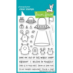 "Beam Me Up Clear Stamps 4""x6"" Lawn Fawn"