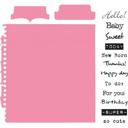 Tab with Text Collectables Marianne Design