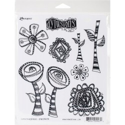 """Everything's Rosy Dylusions Cling Stamp 8,5""""x7"""" Dyan Reaveley"""