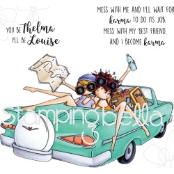 Uptown Girls Thelma & Louise Rubber Stamps Stamping Bella