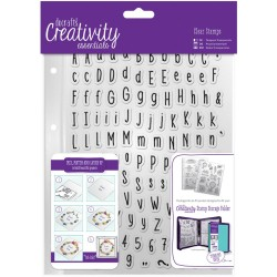 Alphas Folk A5 Clear Stamp Set 128 Pkg Creativity Essentials Docrafts