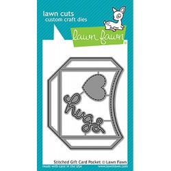 Stitched Gift Card Pocket Cuts Custom Craft Die Lawn Fawn