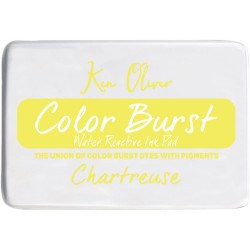 Chartruse Color Burst Water Reactive Ink Pad Ken Oliver