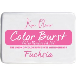 Fuchsia Color Burst Water Reactive Ink Pad Ken Oliver