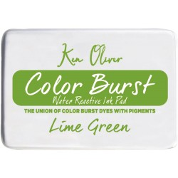 Lime Green Color Burst Water Reactive Ink Pad Ken Oliver