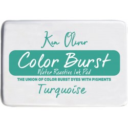 Turquoise Color Burst Water Reactive Ink Pad Ken Oliver