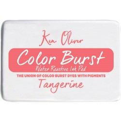 Tangerine Color Burst Water Reactive Ink Pad Ken Oliver