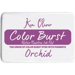 Orchid Color Burst Water Reactive Ink Pad Ken Oliver