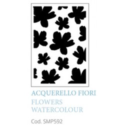 Acquarello Fiori Flowers Watercolour A5 Mixed Media Stencil Tommy Art