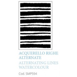 Acquarello Righe Alternate Alternathing Lines Watercolour A5 Mixed Media Stencil Tommy Art
