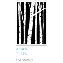 Alberi Trees A5 Mixed Media Stencil Tommy Art