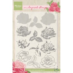 Tiny's Rose Layered Stamps Clear Stamps Marianne Design