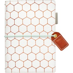 "Copper Hexagon Color Crush Pocket Traveler's Planner 4,25""x6"" Webster's Pages"