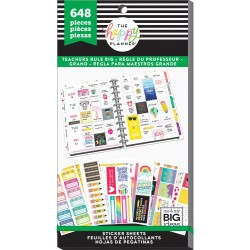 Get It Done Big Teacher Value Stickers Create 365 The Happy Planner Me & My Big Ideas