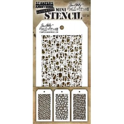 Set 35 Tim Holtz Mini Layering Stencil 3 Pkg