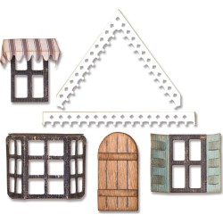 Village Fixer Upper Thinlits Dies by Tim Holtz Sizzix