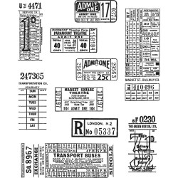 "Ticket Booth Cling Rubber Stamp Set 7""x8.5"" Tim Holtz"