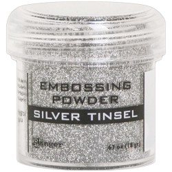 Silver Tinsel Embossing Powder Ranger