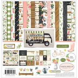 "Spring Market 12""x12"" Collection Kit Carta Bella"