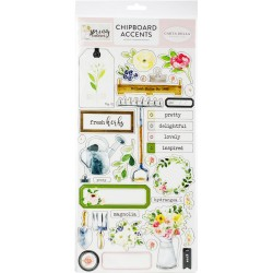 "Spring Market 6""x12"" Adhesive Chipboard Accents Carta Bella"