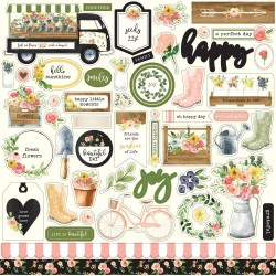 "Spring Market 12""x12"" Element Sticker Carta Bella"