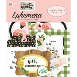 Spring Market Icons Ephemera Die Cut Cardstock Pieces Carta Bella