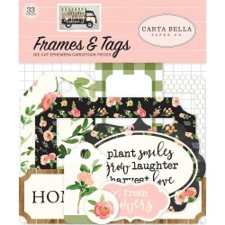 Spring Market Frames & Tags Ephemera Die Cut Cardstock Pieces Carta Bella