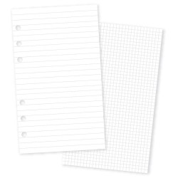 Basic 12 Grid 12 Lined Personal Planner Double-Sided Inserts 24 Pkg Carpe Diem Simple Stories