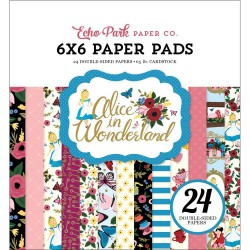 "Alice In Wonderland Paper Pad 6""x6"" Echo Park"