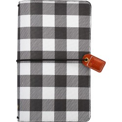 "Buffalo Plaid Color Crush Traveler's Notebook Planner 5,75""x8,75"" Webster's Pages"