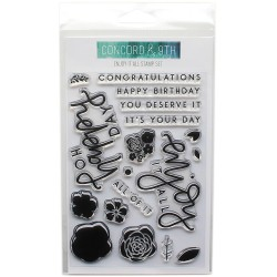 "Enjoy It All Clear Stamp Set 4""x6"" Concord & 9th"