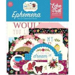 Alice in Wonderland Icons Ephemera Die Cut Cardstock Pieces Echo Park