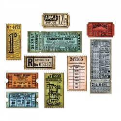 Ticket Booth Framelits Dies by Tim Holtz Sizzix