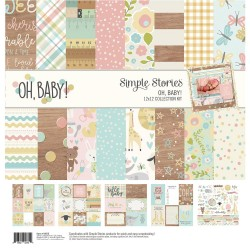 """Oh Baby! Collection Kit 12""""x12"""" Simple Stories"""