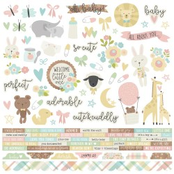 "Oh Baby! Combo Cardstock Stickers 12""x12"" Simple Stories"