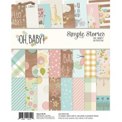 "Oh Baby! Paper Pad 6""x8"" Simple Stories"