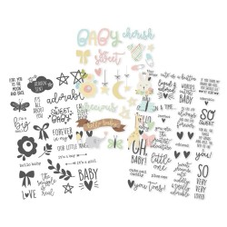 "Oh Baby! Clear Stickers 4""x6"" Simple Stories"