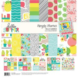 "Hello Summer Collection Kit 12""x12"" Simple Stories"