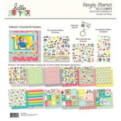 "Hello Summer Collector's Essential Collection Kit 12""x12"" Simple Stories"
