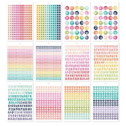 Numbers Planners Stickers Tablet A5 Carpe Diem