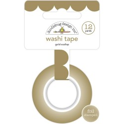 Gold Scallop Washi Tape 15 mm Doodlebug